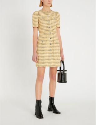 ca599a9f7219 Maje Tweed-Woven Mini Dress In Yellow | ModeSens