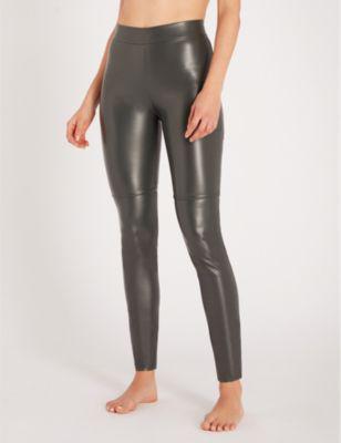 d5d95e0d89259 Wolford Estella Faux-Leather Leggings In 7496 Office Grey | ModeSens