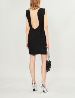 267dc346145 Calvin Klein Scoop-Back Square-Neck Viscose Cady Mini Dress In Black ...