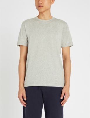 82c3dbac Sunspel Riviera Cotton-Jersey T-Shirt In Grey Melange   ModeSens