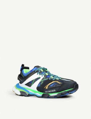 Balenciaga Track Leather, Mesh And Rubber Sneakers In  Multicoloured