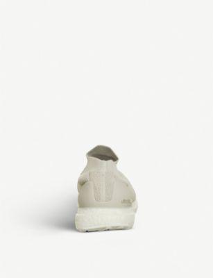 4d331c90c3ad2 Adidas Originals Ultra Boost Laceless Primeknit Trainers In Chalk Pearl