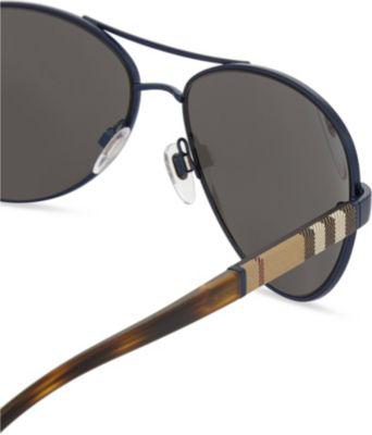 616a668b855cc Burberry Be3080 Aviator Sunglasses In Matte Blue