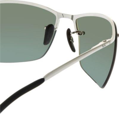 8cf7d1c5cda89 Ray Ban Rb3544 Chromance Rectangle-Shape Sunglasses In Shiny Silver ...