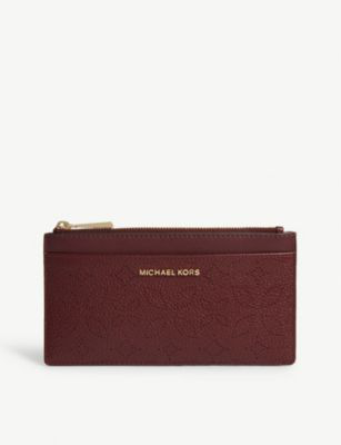 1fcfe841de0c Michael Michael Kors Floral Pattern Leather Purse In Oxblood | ModeSens