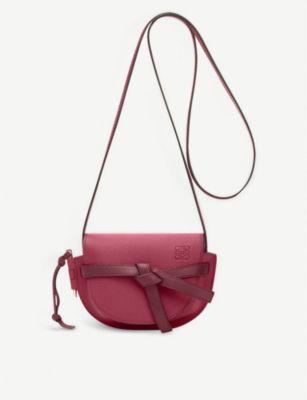 9d80ac62099 Gate Mini Leather Shoulder Bag in Raspberry/Wine