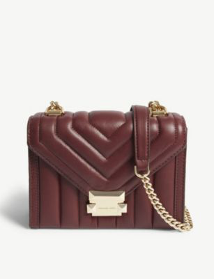 9267ab184da4 Michael Michael Kors Whitney Small Leather Shoulder Bag In Oxblood ...