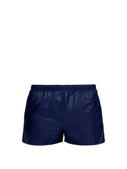 510e0e53a8f Prada - Elasticated Waist Nylon Swim Shorts - Mens - Navy | ModeSens