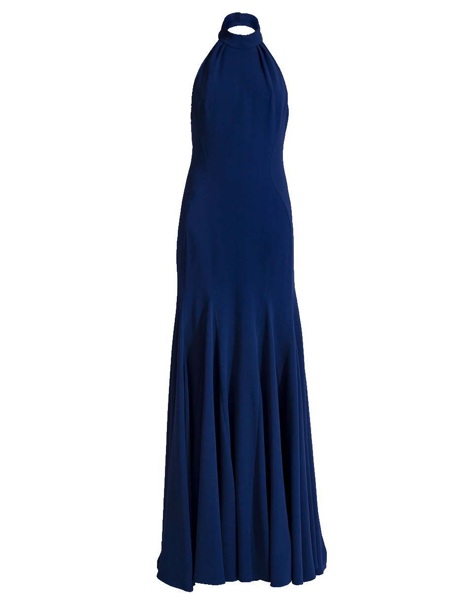 ae4864373 Stella Mccartney Meghan Navy Halterneck Gown In Blue
