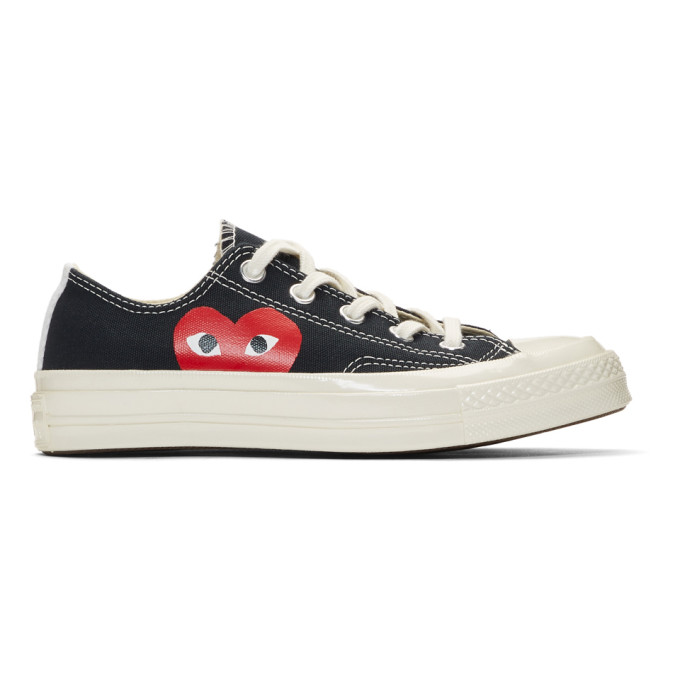 d27189ff81a1 Comme Des GarÇOns Play Comme Des Garcons Play Black Converse Edition Half  Heart Chuck 70 Sneakers