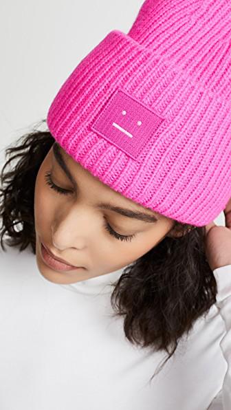 35c0c29c24270 Acne Studios Pansy N Face Wool Beanie In Pink
