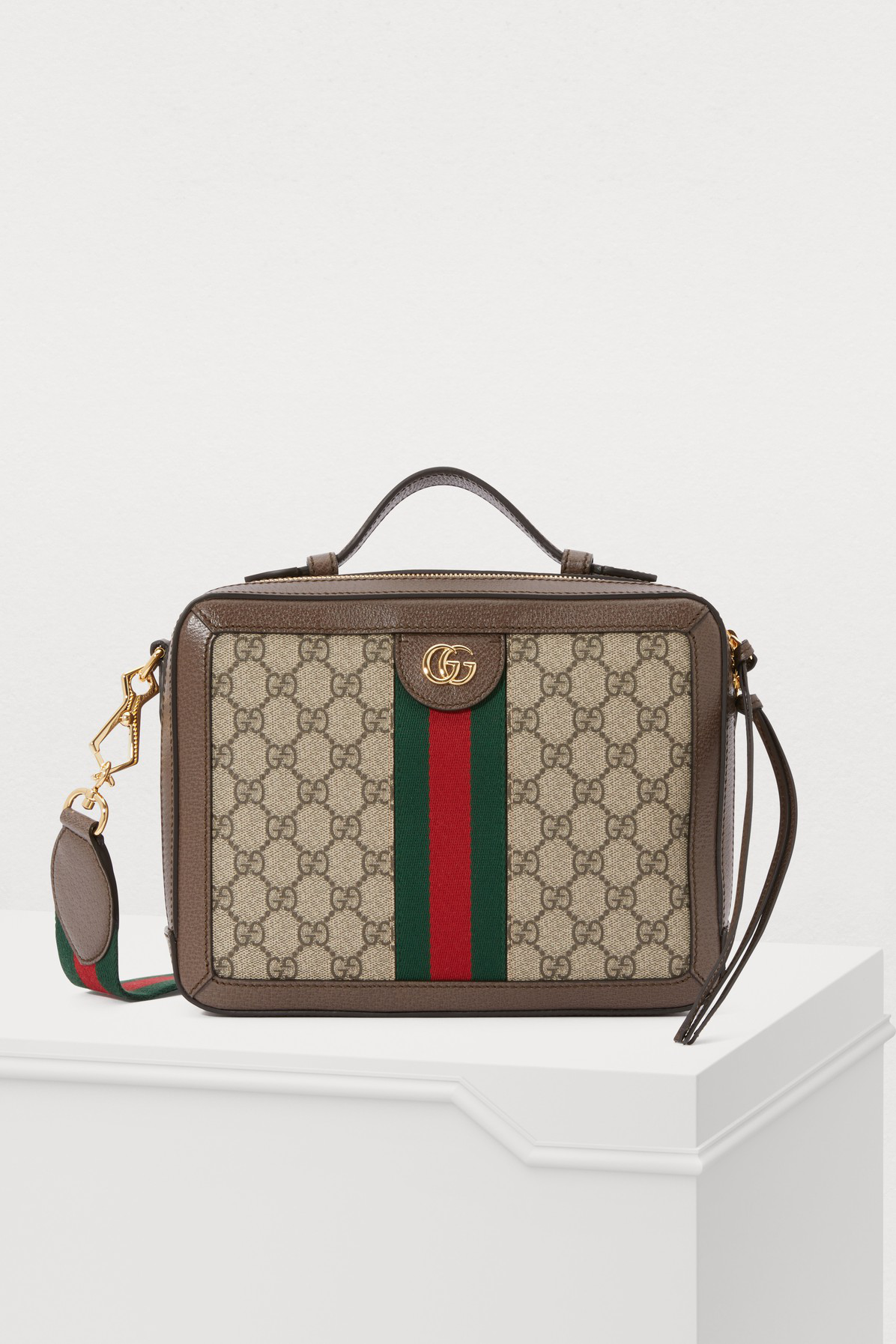 c2a9e505c Gucci Small Ophidia Gg Supreme Canvas Shoulder Bag - Beige In Brown ...
