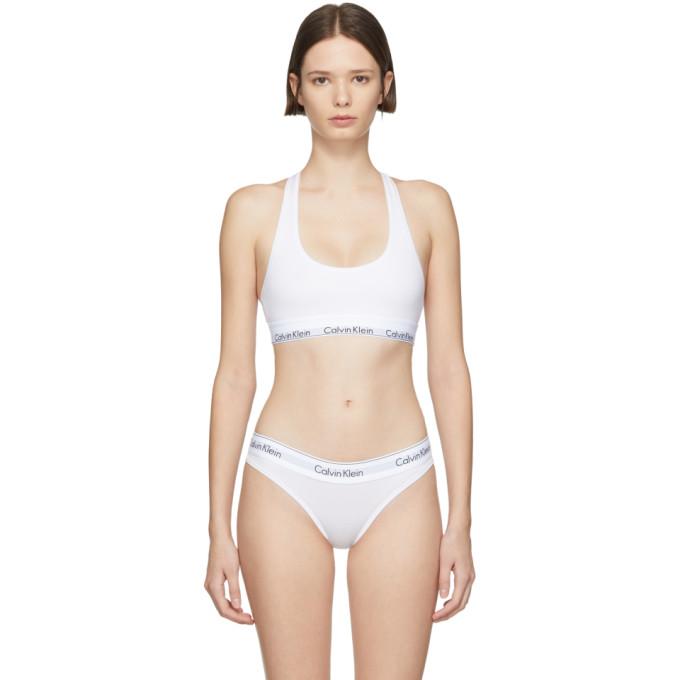 03b7a3a6e4 Calvin Klein Underwear White Modern Bralette In 100 White