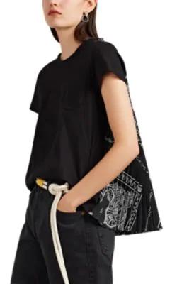 9928dae0ec8 Sacai Bandana-Print Cotton Swing T-Shirt In Black