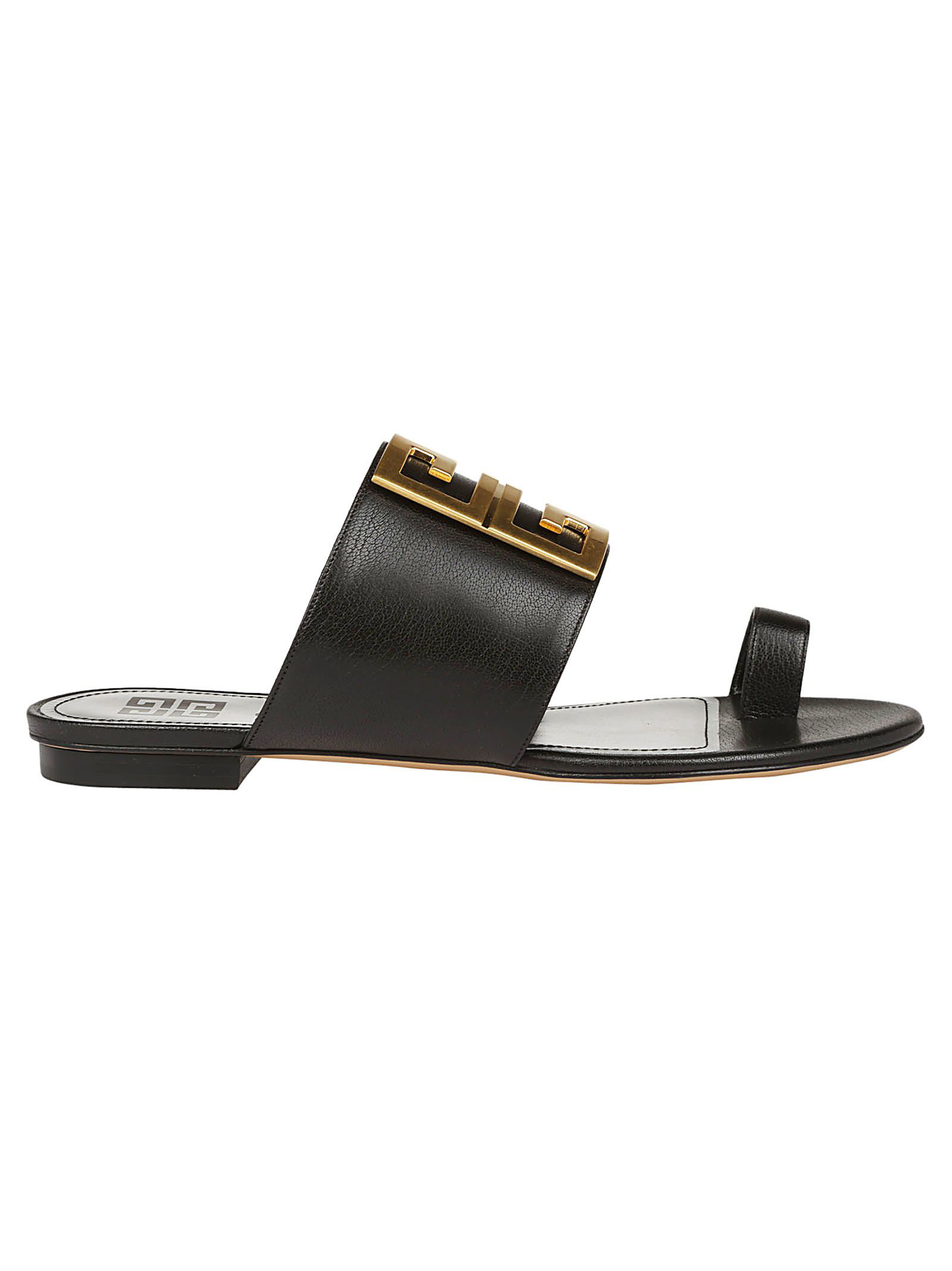 be6dfc46ab19 Givenchy Women s Be3025E05V001 Black Leather Sandals