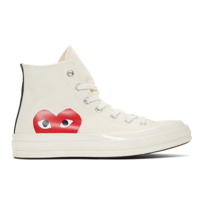 3f27355ef2f9 Comme Des GarÇOns Play Comme Des Garcons Play Off-White Converse Edition  Half Heart Chuck