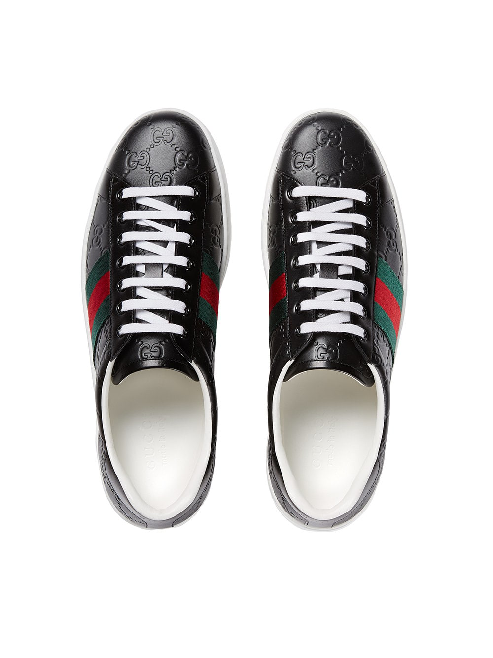 02d544ce99a Gucci Men s Shoes Leather Trainers Sneakers Signature In Black ...
