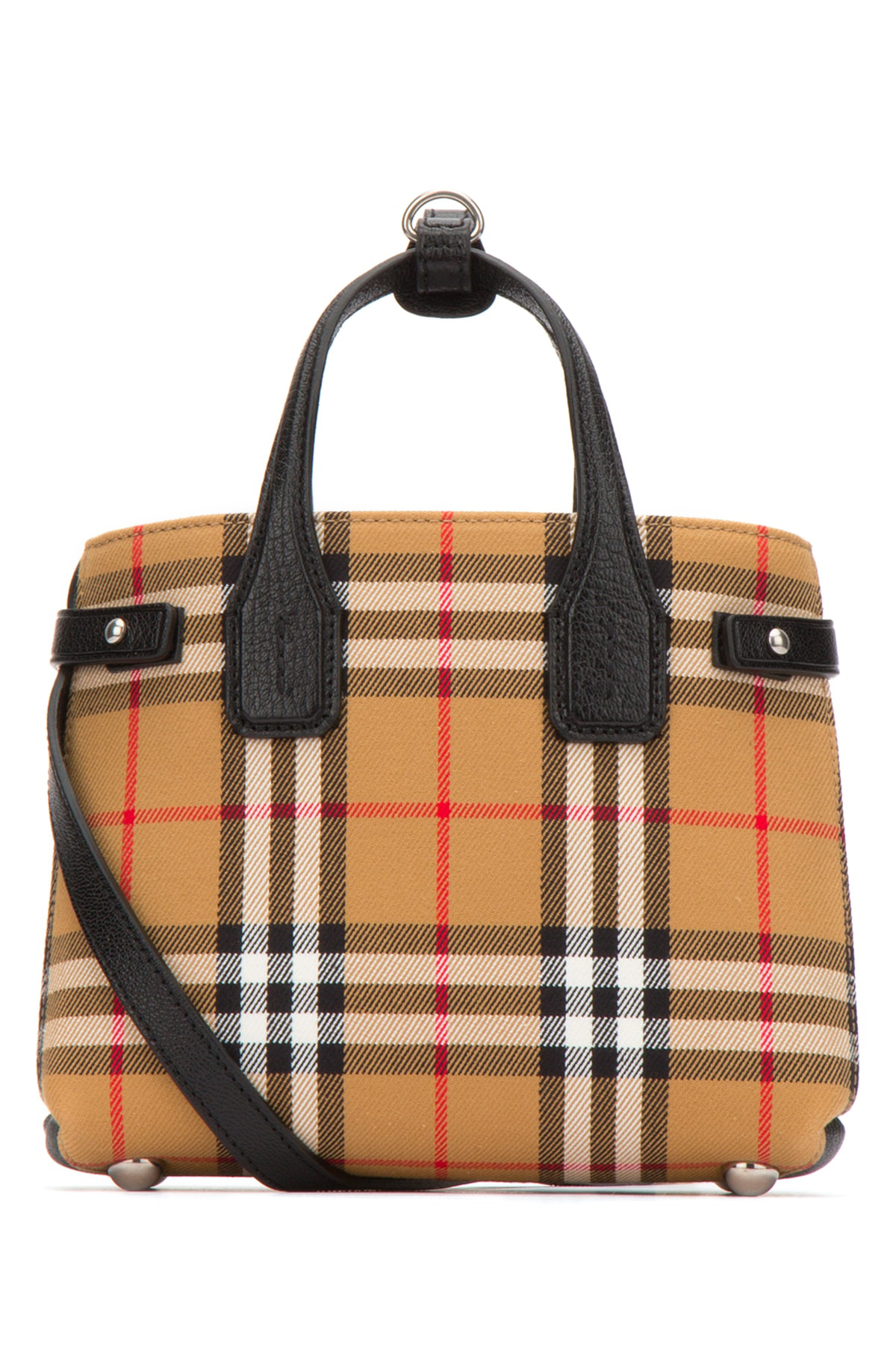 143004e223 Burberry Banner Baby Checked Canvas & Leather Bag In Beige | ModeSens
