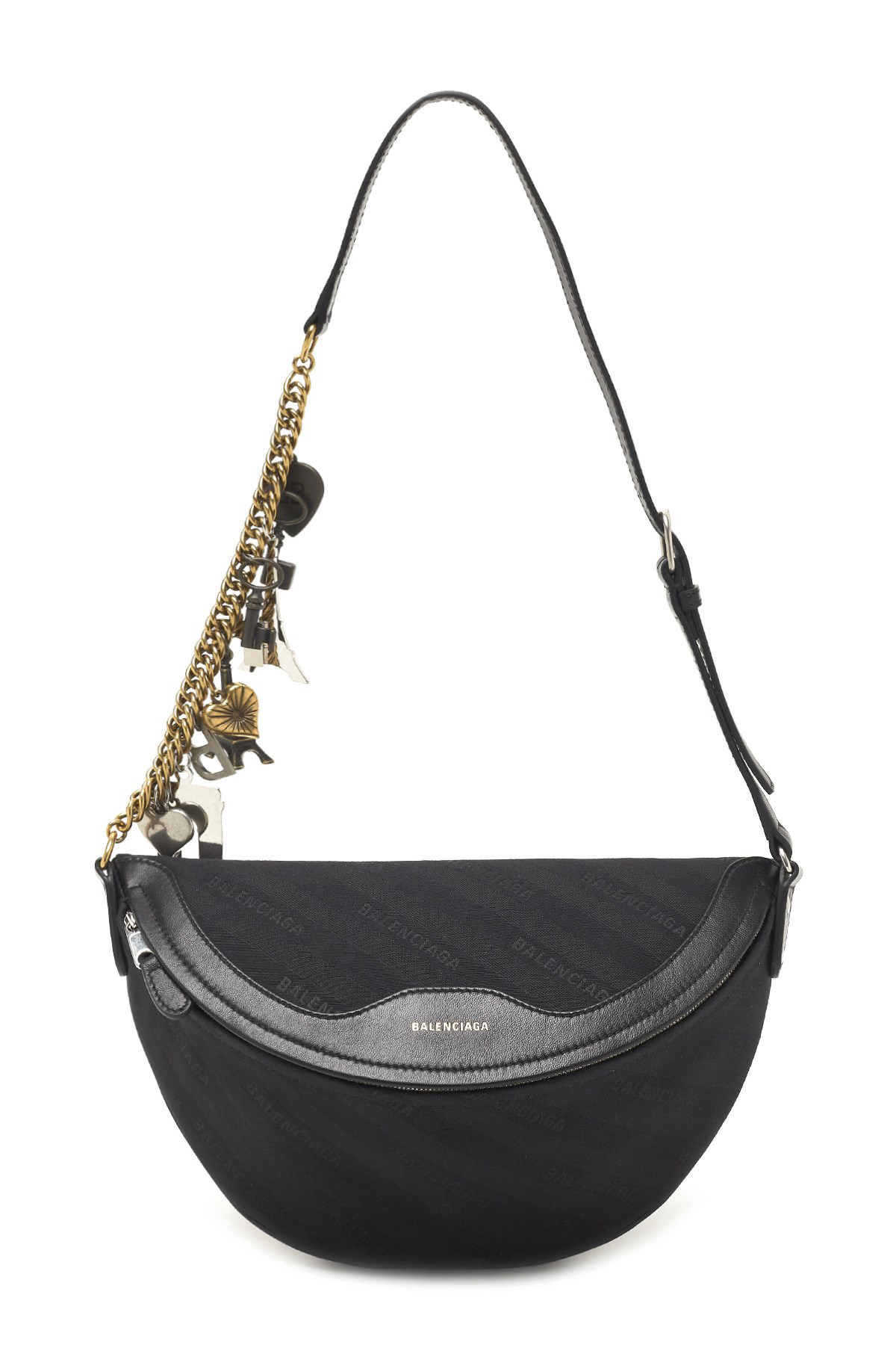 de8647300109 Balenciaga Souvenir Embellished Leather-Trimmed Velvet Belt Bag In 1000  Black