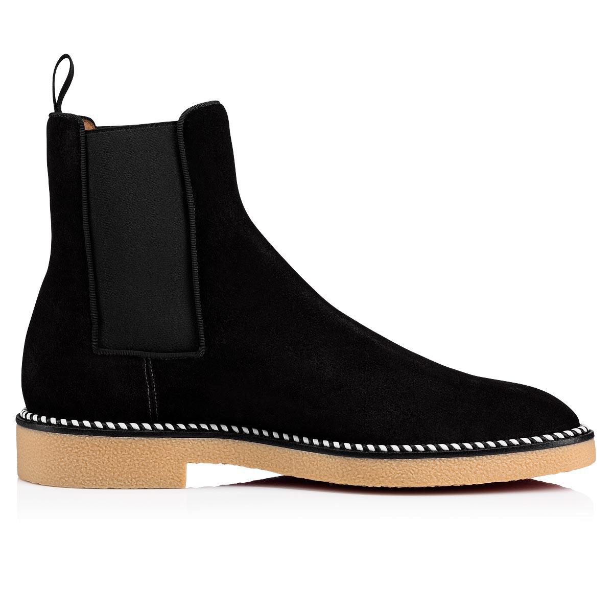 3f3488a30e5 Men's Chelsea Crepe-Sole Suede Boots in Black