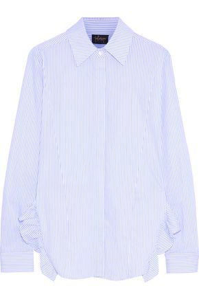 2bbad778 Petersyn Woman Gretchen Ruffle-Trimmed Checked Cotton-Poplin Shirt Sky Blue