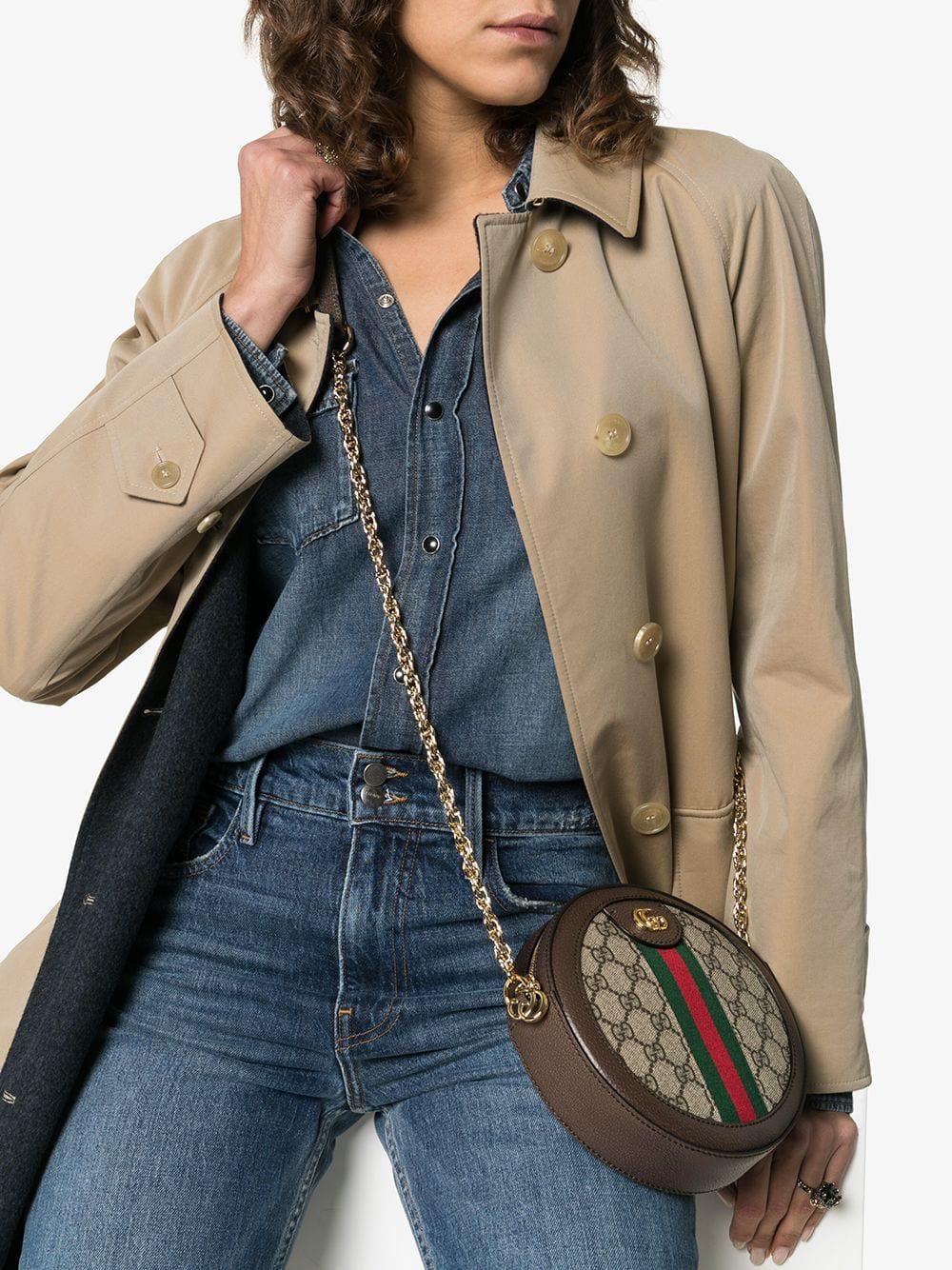 ea39f9742 Gucci Ophidia Mini Gg Round Shoulder Bag In Neutrals   ModeSens