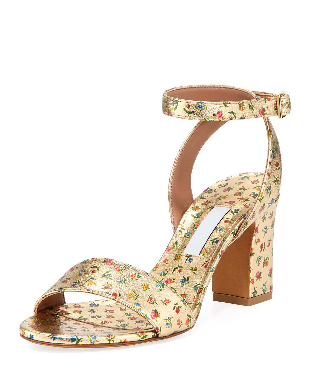 16cc79f16f9f Tabitha Simmons Women s Leticia Ankle Strap Block-Heel Sandals In Gold