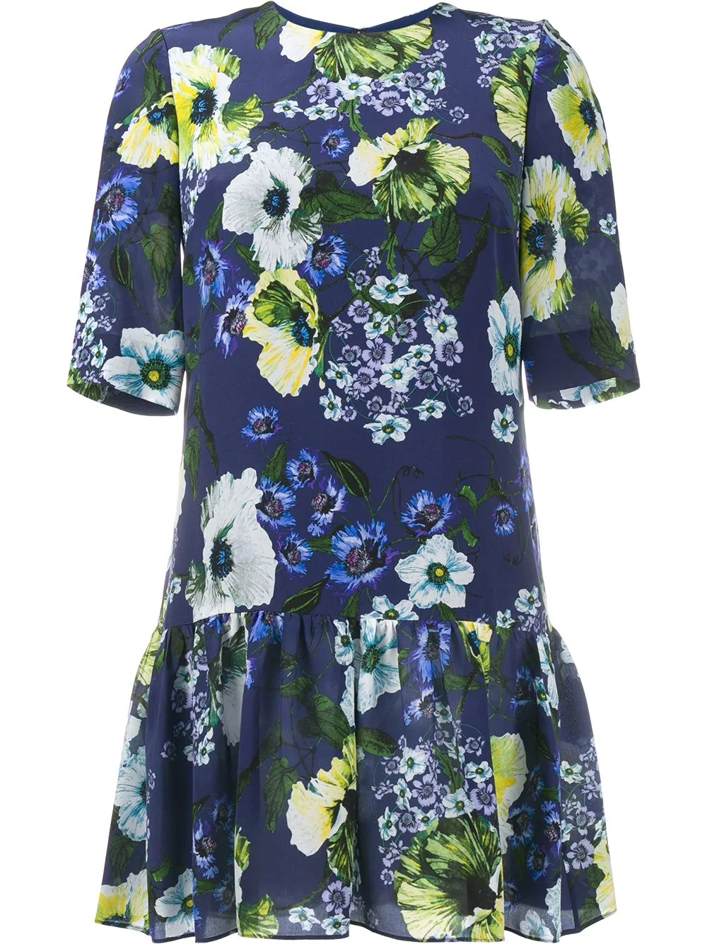 06ad18b3a767 Erdem Floral Print Silk Dress - Blue | ModeSens