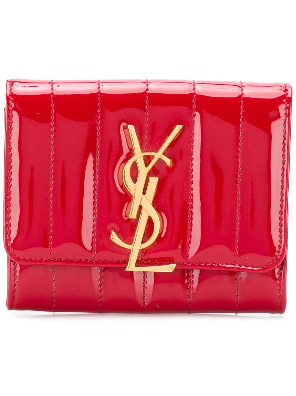 c836b581c0f11 Saint Laurent Kleines  Vicky  Portemonnaie - Rot In Red