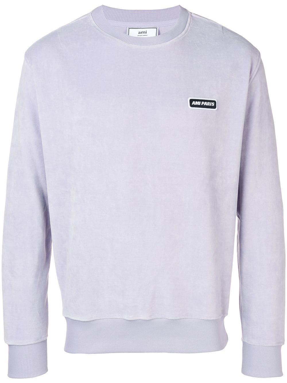 b5ec0f6037b Ami Alexandre Mattiussi Velvet Ami Patch Sweatshirt - Purple