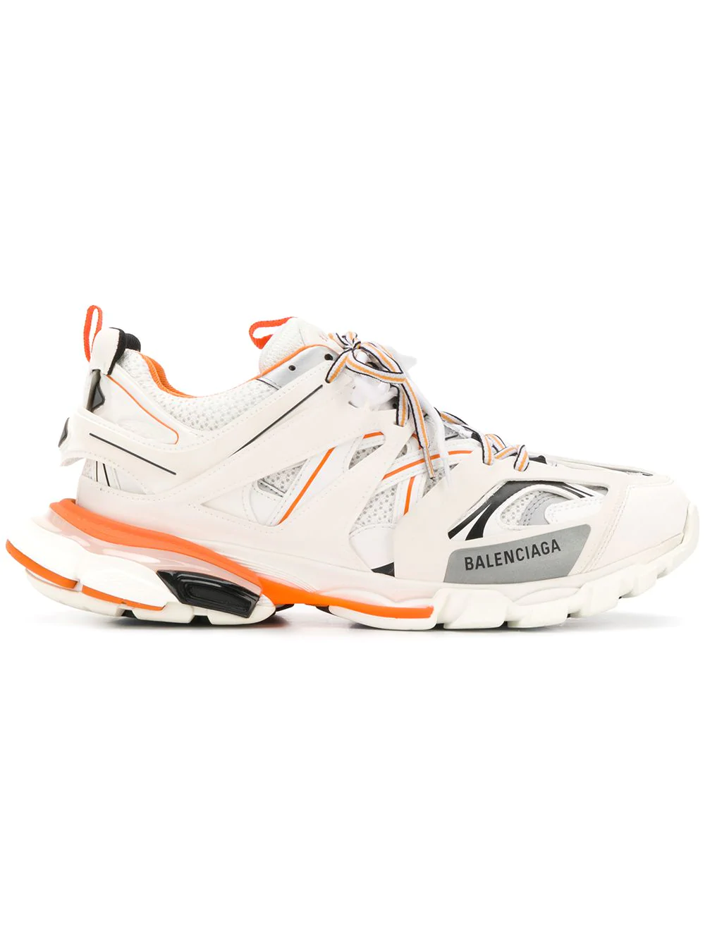 07147ab804be5 Balenciaga Track White Leather And Mesh Trainers
