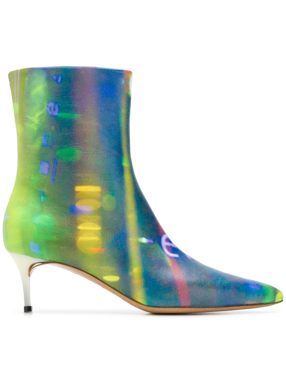 802afa17fce Maison Margiela After Party Printed Kitten-Heel Ankle Boots In Blue ...