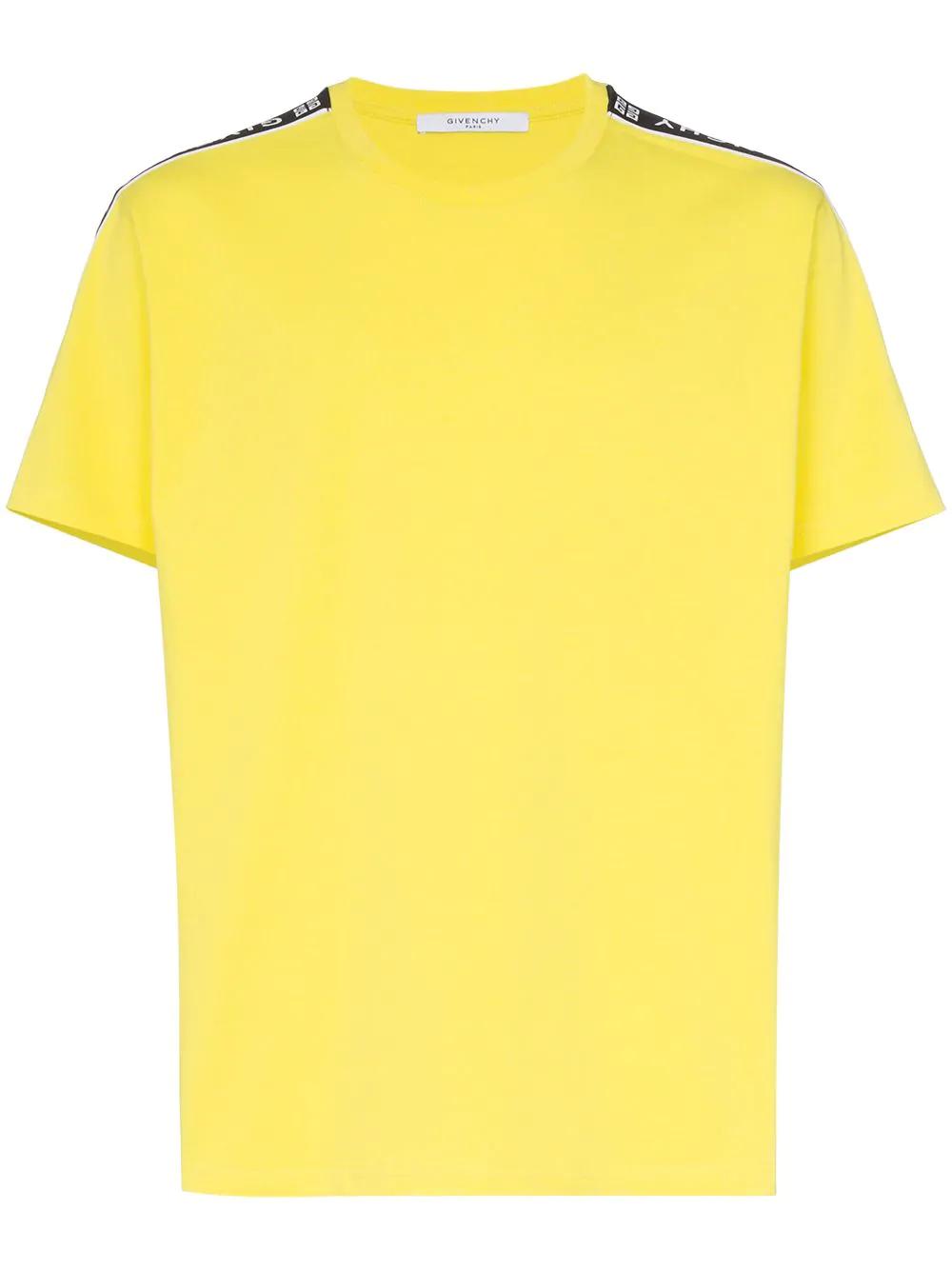 6ef4166b Givenchy - 4G Logo Trim Cotton T Shirt - Mens - Yellow | ModeSens