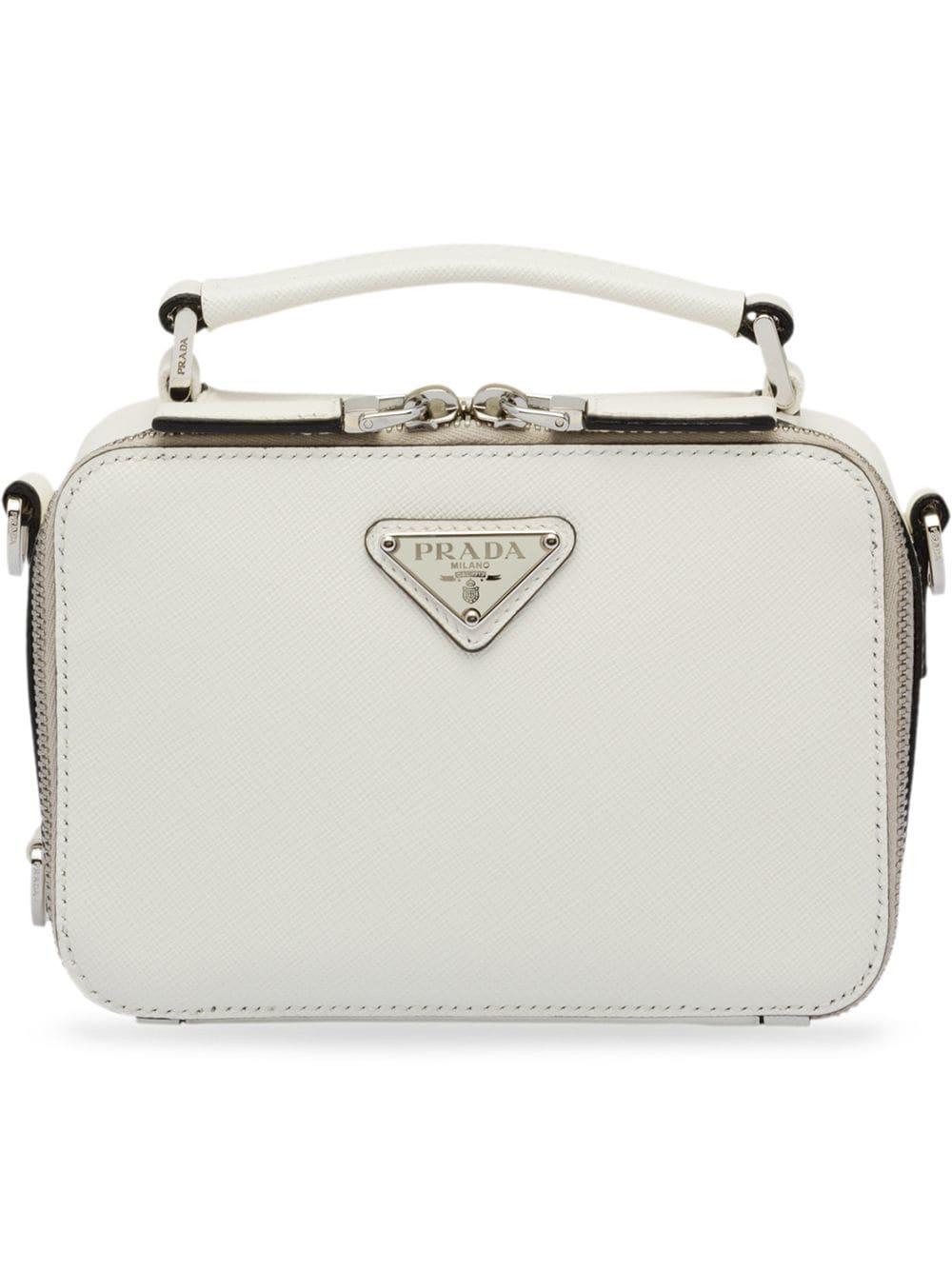 5d4d6d6173 Prada Saffiano Leather Shoulder Bag - White