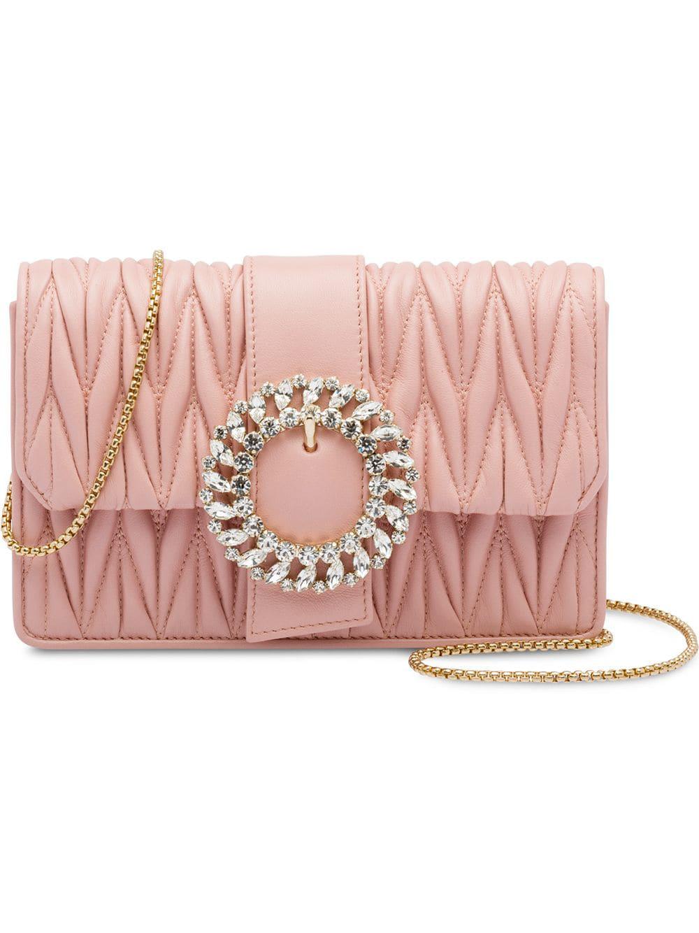 cb21dada28e3 Miu Miu My Miu Leather Bag - Pink