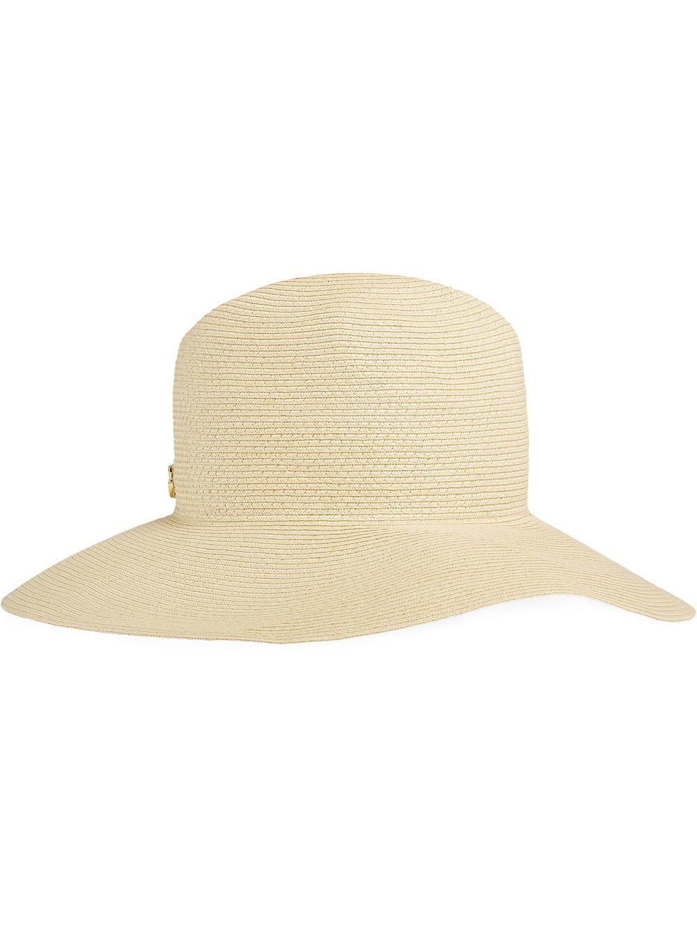 c274dd395481f Gucci Papier Wide Brim Hat In Neutrals