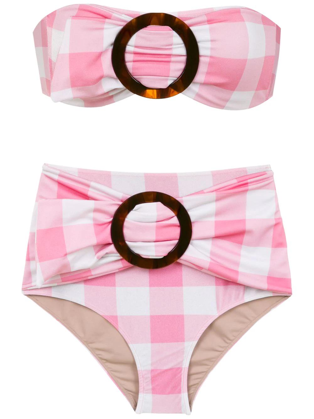 bfd986f60e83e Adriana Degreas Plaid Bikini Set - Pink