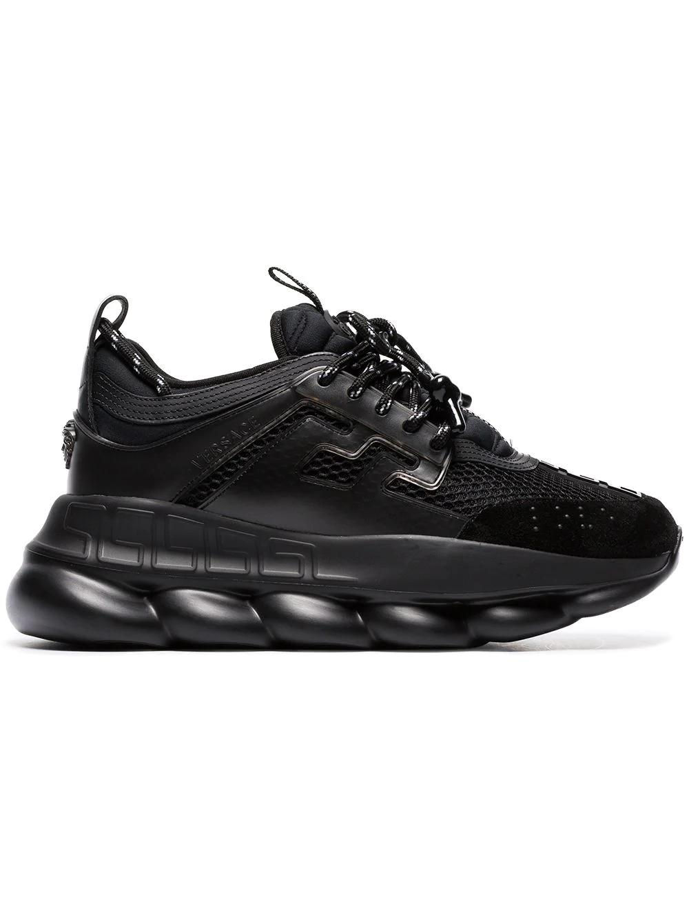 f4326fe9100 Versace Women s Dsr705Gd7Ctgd41 Black Pvc Sneakers