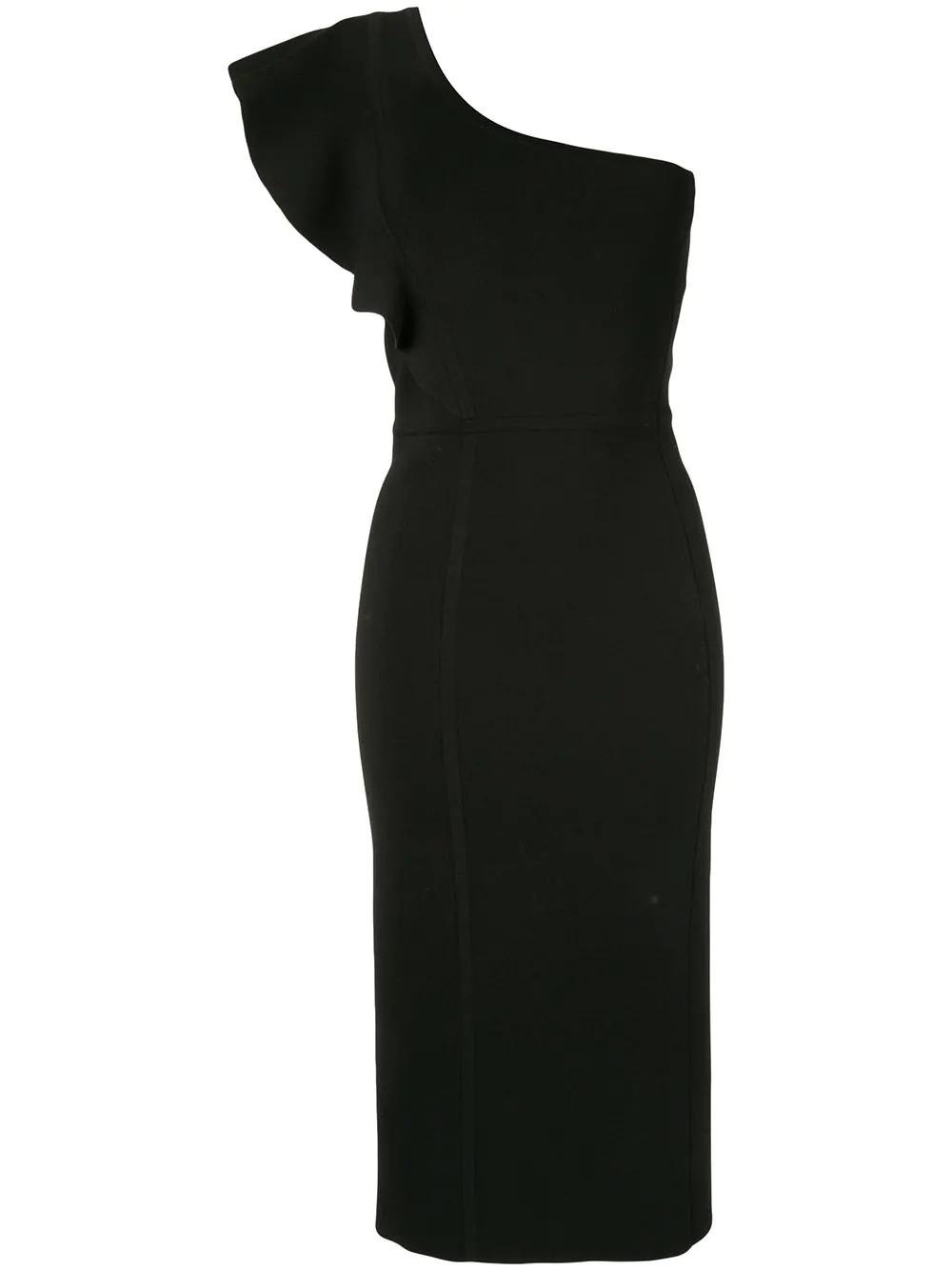 593b93055774 Ginger & Smart Anchor One Shoulder Dress - Black | ModeSens