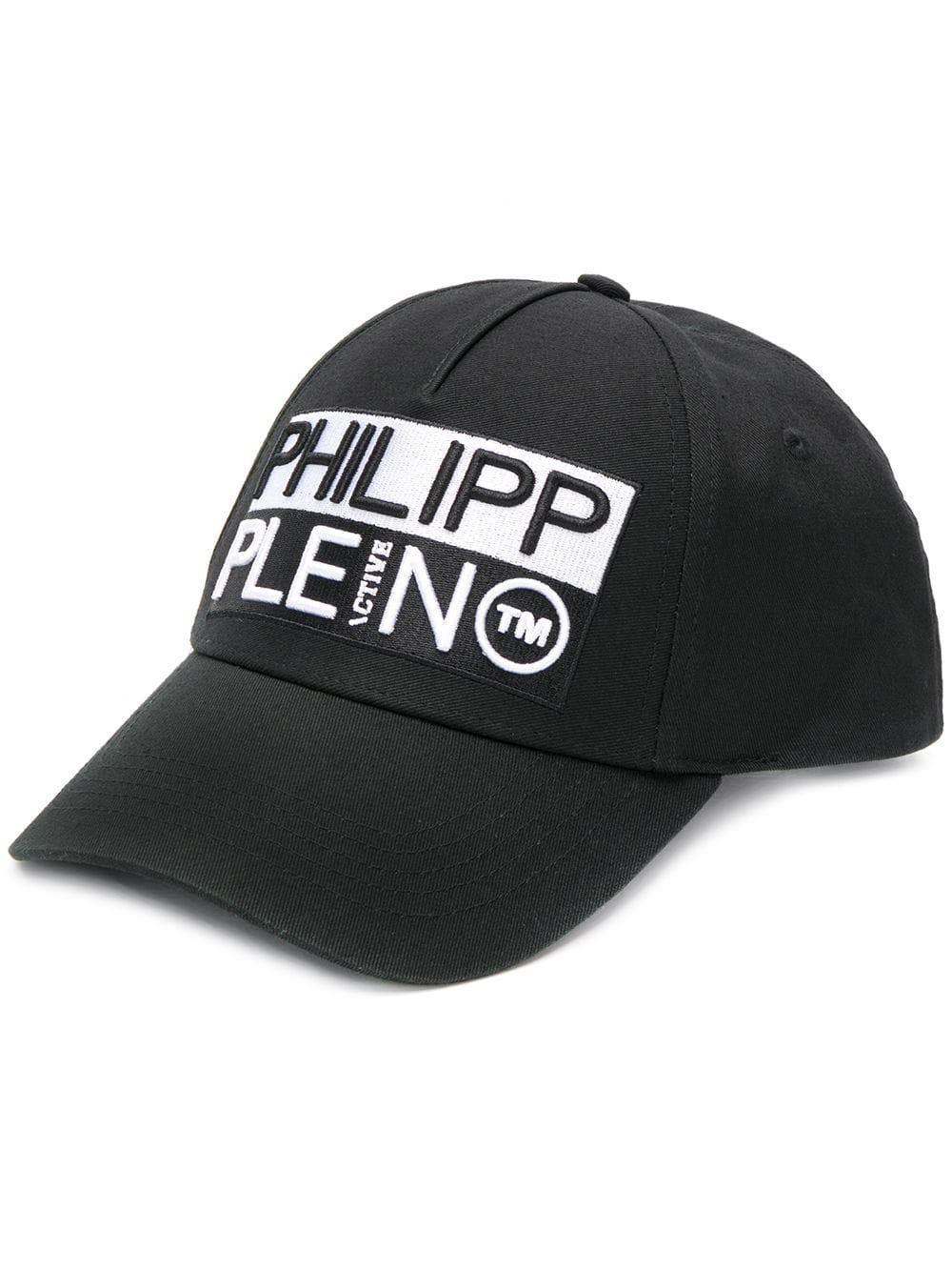 e152b0809ba Philipp Plein Logo Baseball Cap - Black. Farfetch