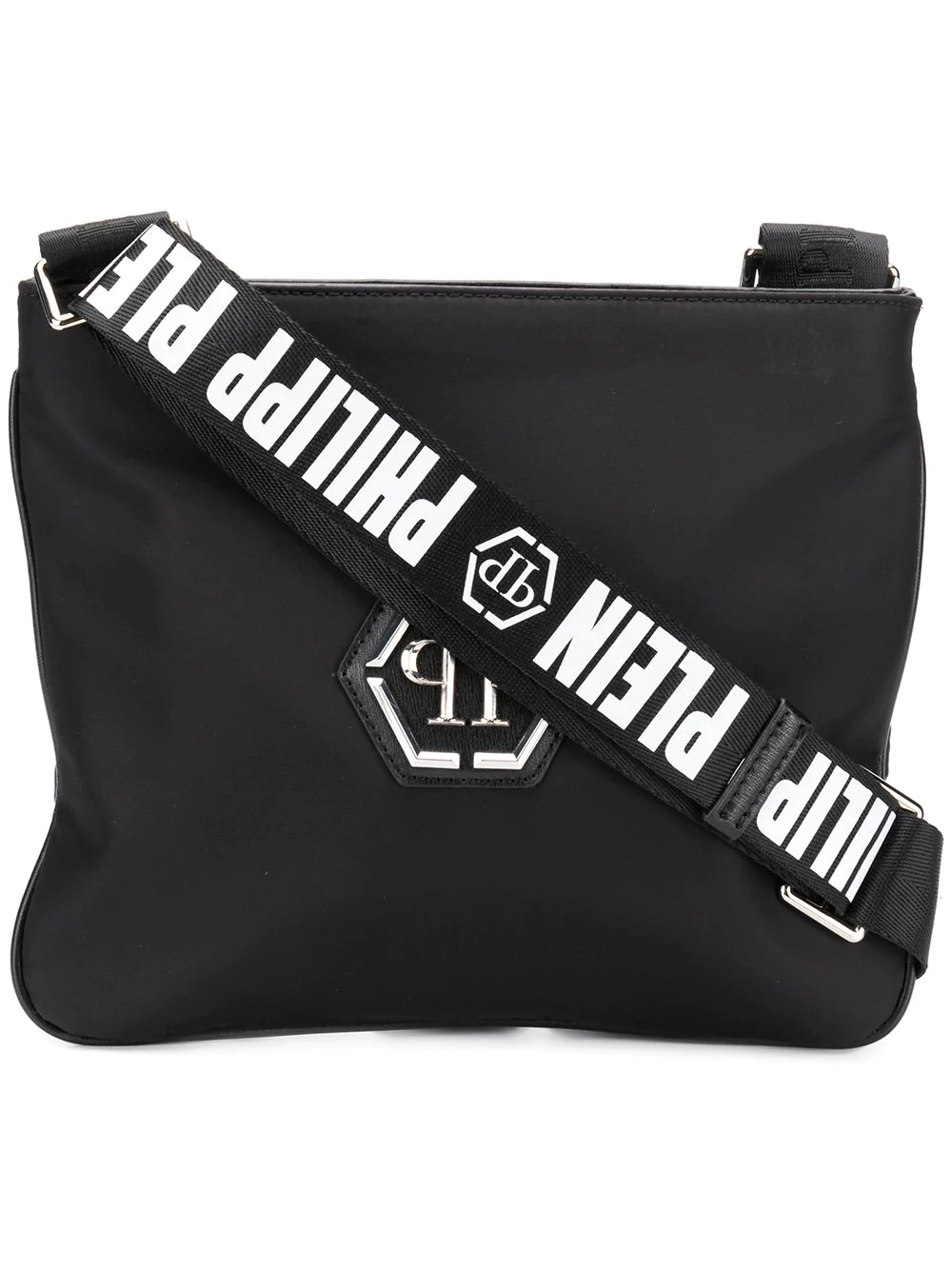 8ebf924f42 Philipp Plein Logo Strap Shoulder Bag - Black | ModeSens
