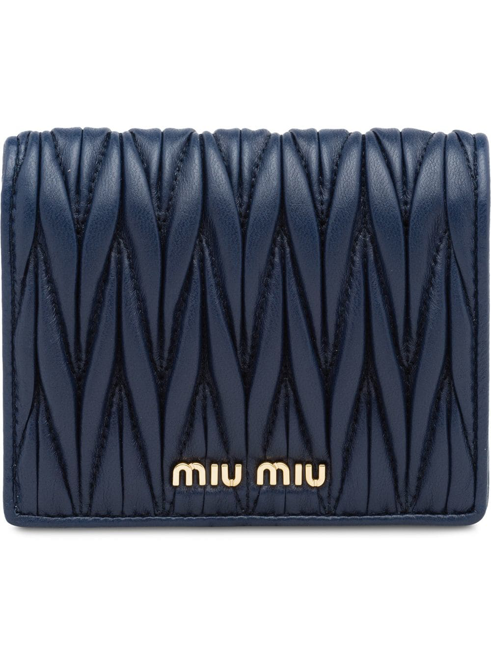 d67882866ca Miu Miu Matelassé Leather Wallet - Blue