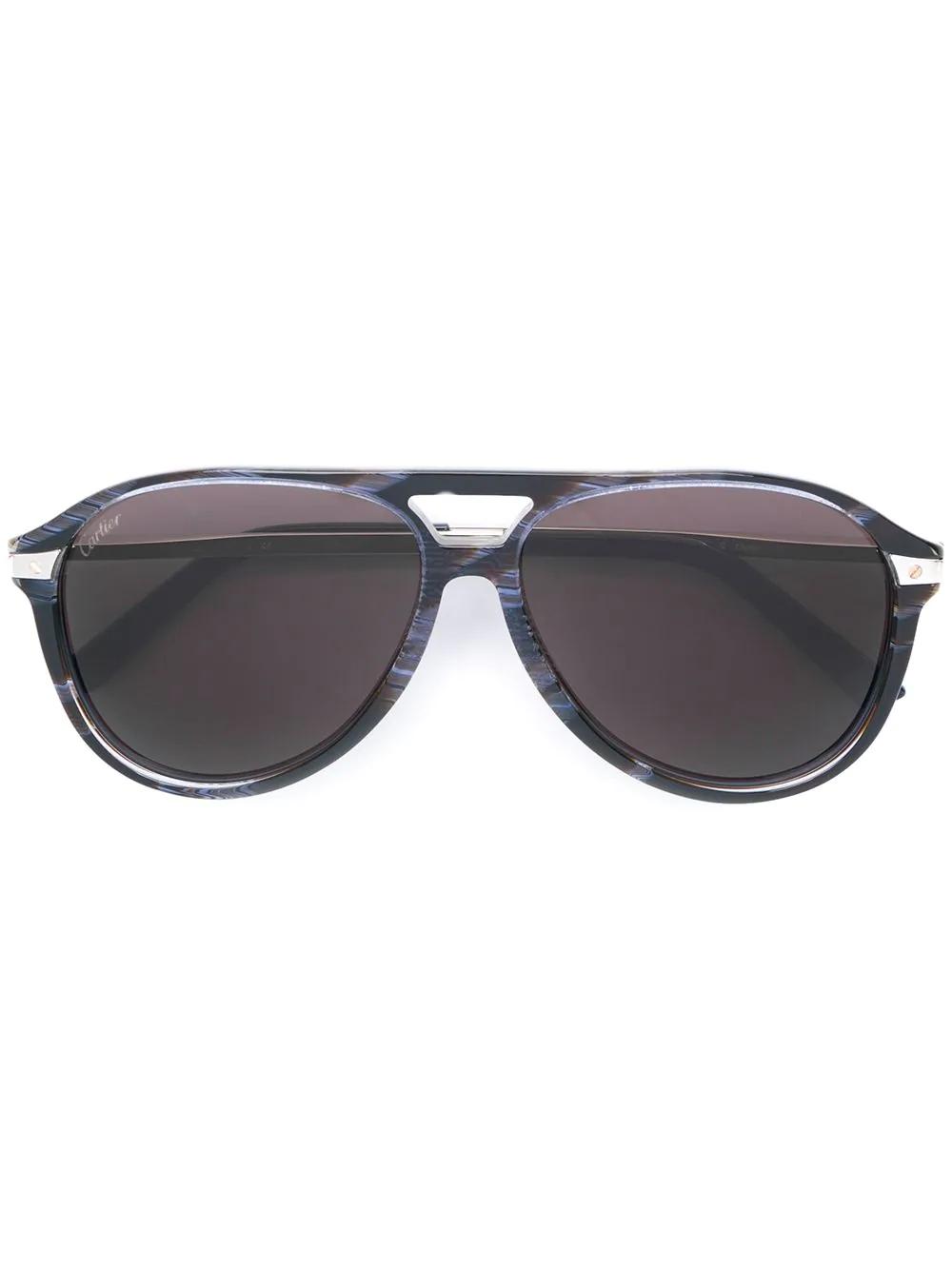 d32eac7283ce7 Cartier Santos De Sunglasses - Blue