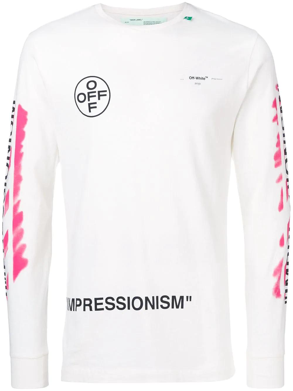 e5d8bbc0e2d Off-White Diagonal Stencil Sweatshirt In White