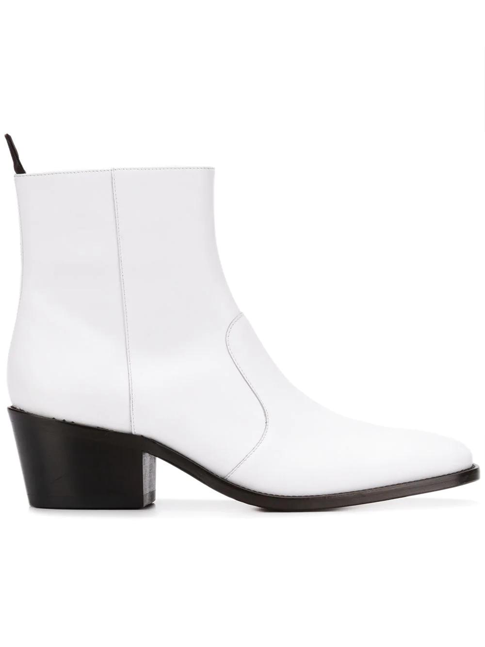 104ac36f50c6b Acne Studios Square Toe Boots - White