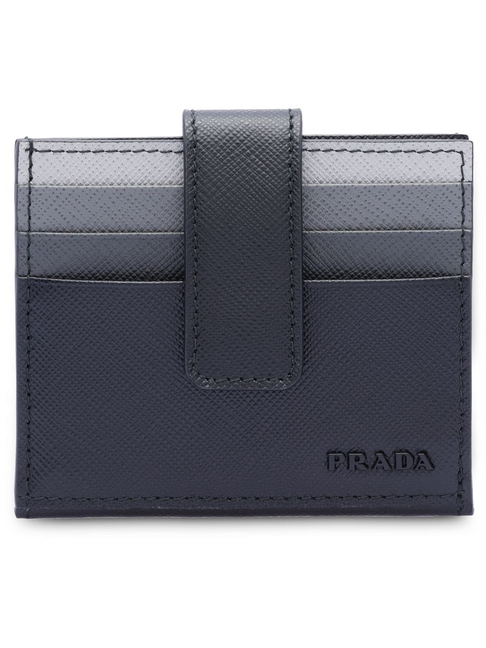 a341ae745e89 Prada Saffiano Leather Card Holder - Black | ModeSens