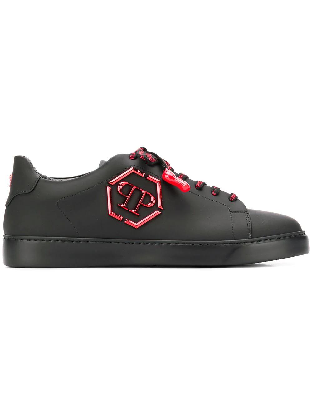 a312336d94 Philipp Plein Logo Plaque Sneakers - Black | ModeSens