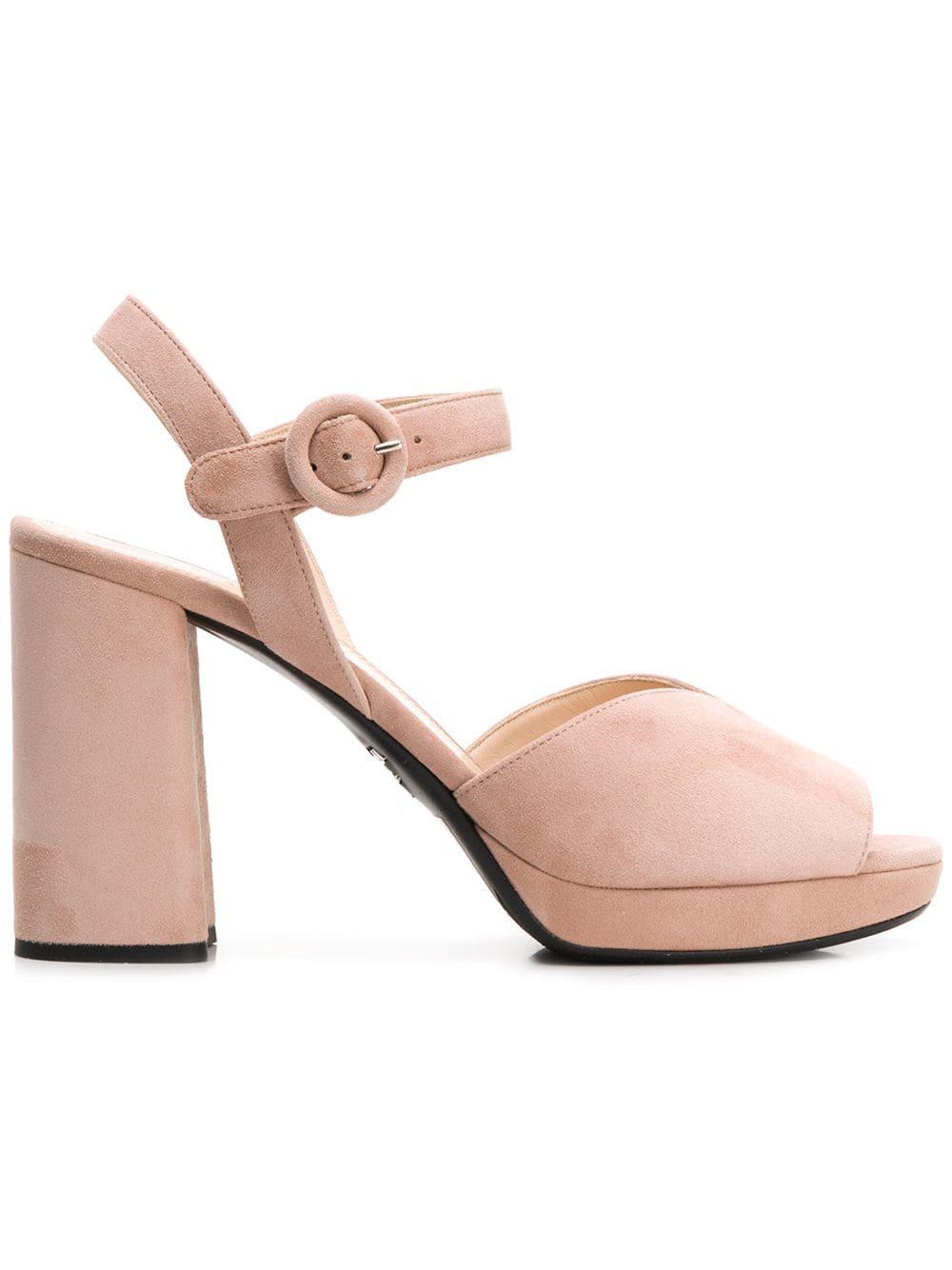 cb050ed8928e Prada Chunky Heel Sandals - Pink