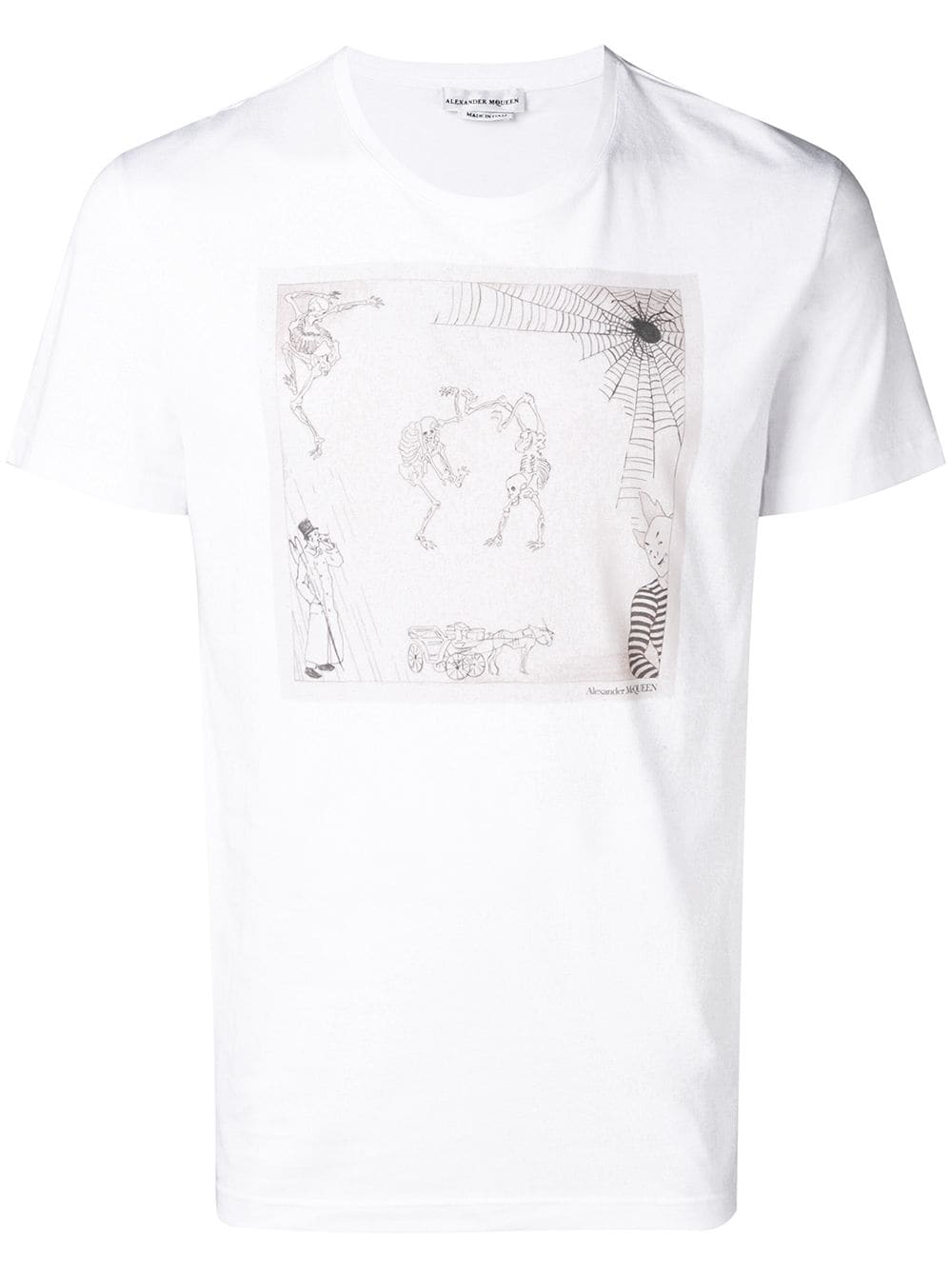 a10d2774 Alexander Mcqueen Dancing Skeleton T-Shirt - White | ModeSens