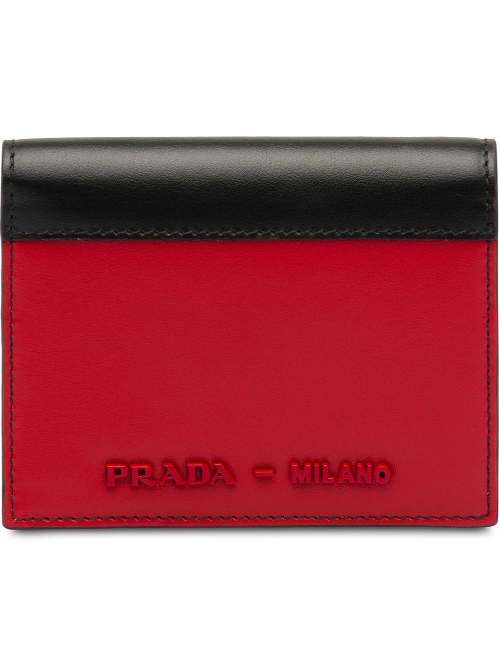 e1e3ba591e31 Prada Leather Wallet - Red | ModeSens